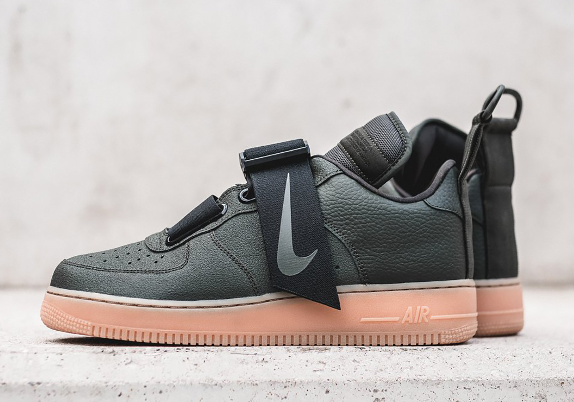 Nike Air Force 1 Utility Olive Gum Release Info  560a14e70