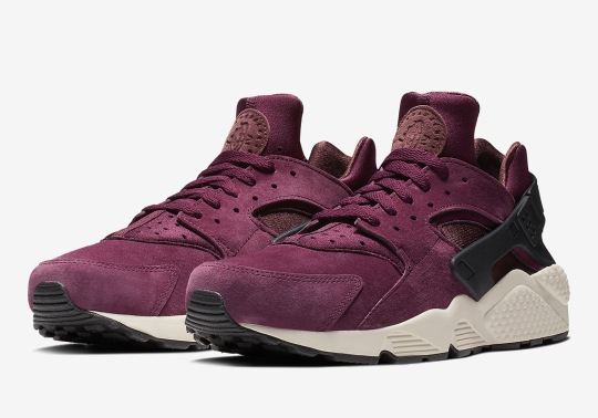 The Nike Air Huarache Premium Releases In A Smooth Bordeaux