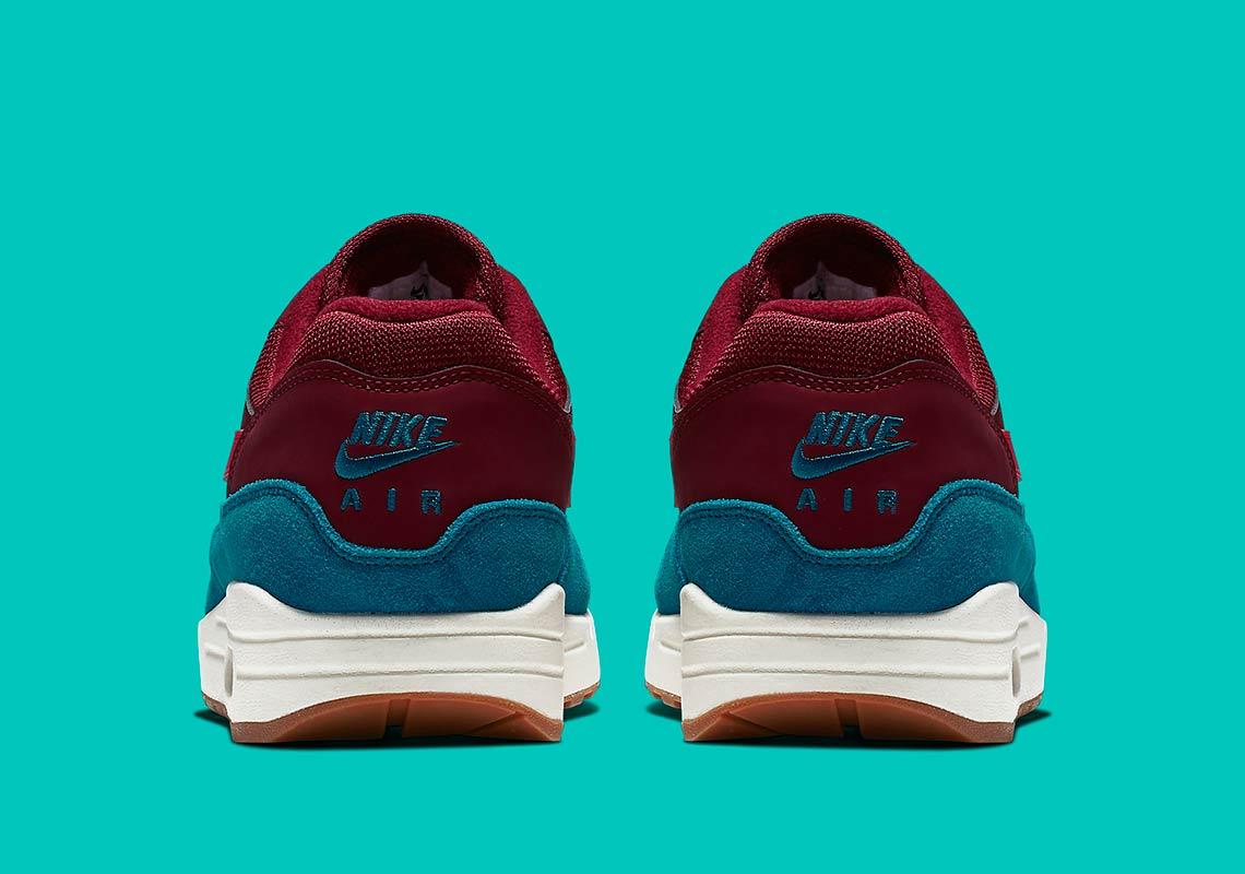 purchase cheap 14949 24d66 Nike Air Max 1 Teal + Burgundy AH8145-601   SneakerNews.com