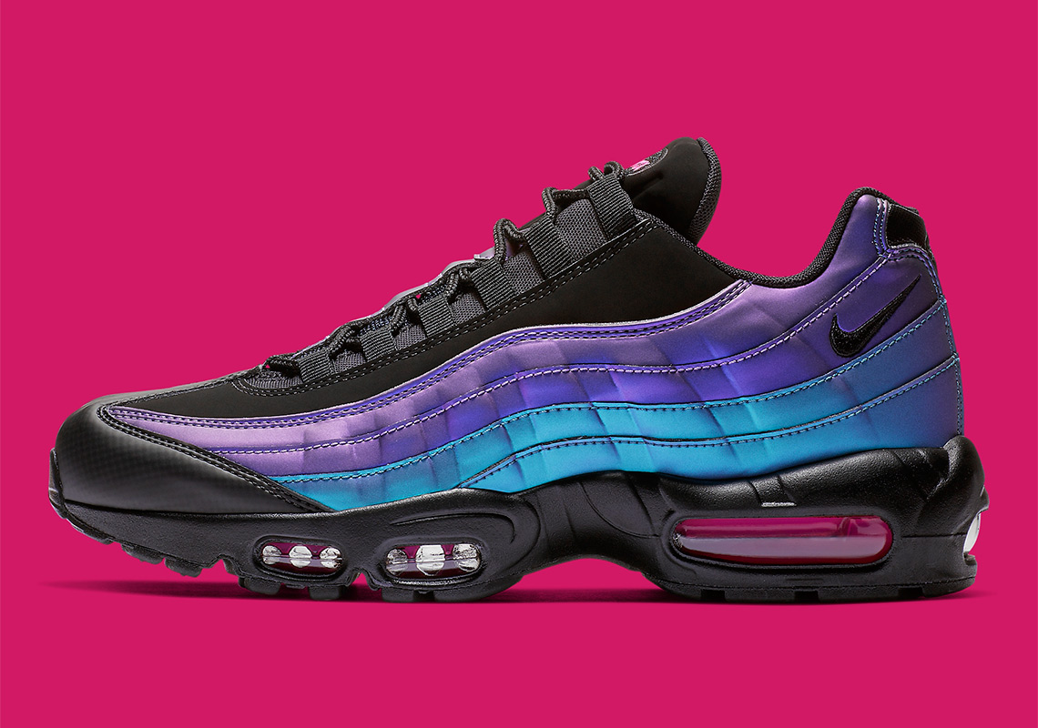 size 40 7080b 39e3d Nike Air Max 95 160. Color BlackLaser Fuchsia