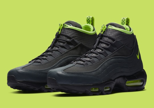 Black And Volt Come To The Nike Air Max 95 Sneakerboot 9d5a3e59160