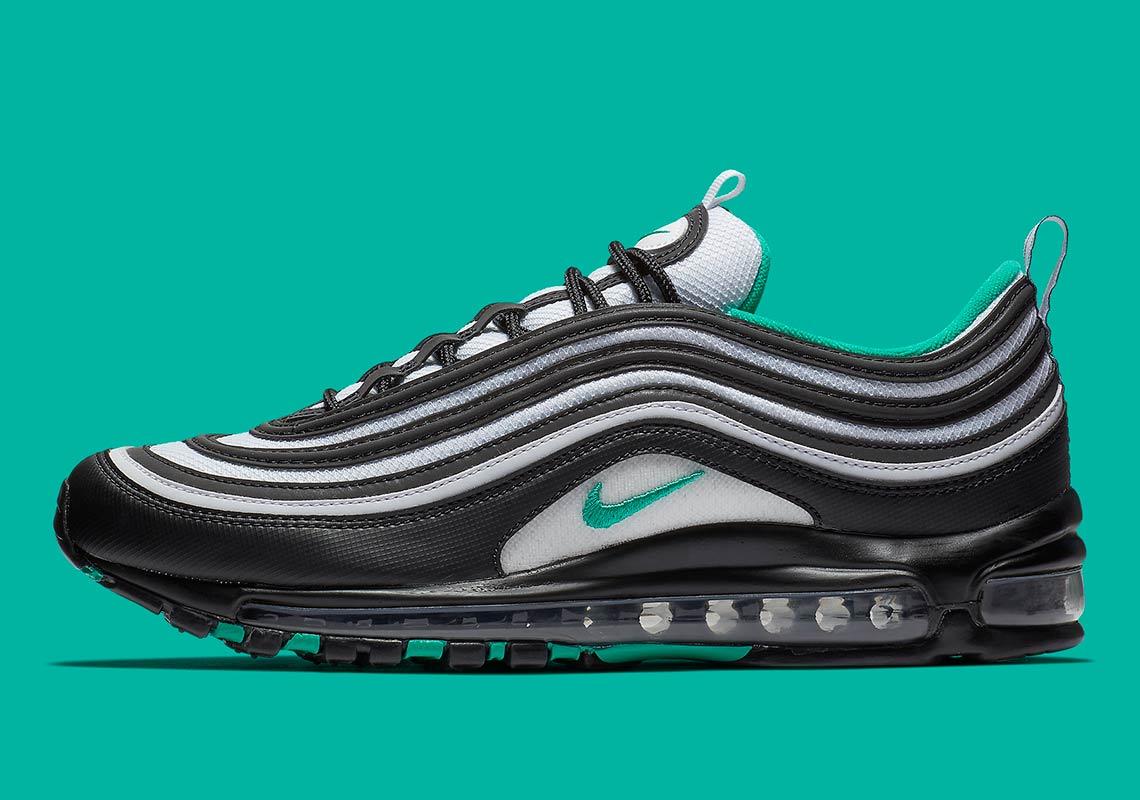 Nike Air Max 97 Black + Teal 921826-013 Photos  7fe734083