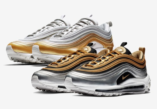 "First Look At The Nike Air Max 97 ""Metallic Gold"" Pack"