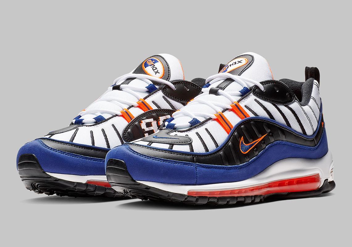 Nike Air Max 98 CD1536-100 White Deep Royal Blue Total ...