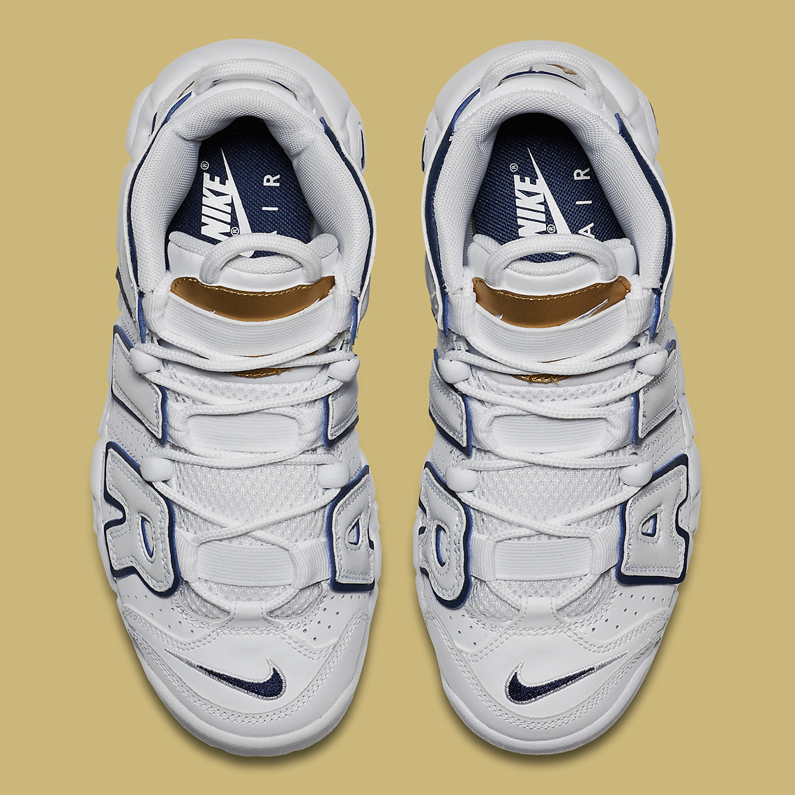 112fef280dc Nike Air More Uptempo GS Color  White Midnight Navy-Metallic Gold Style  Code  415082-109. Advertisement. Advertisement