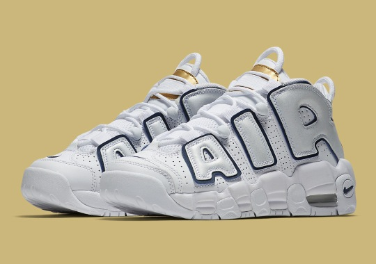 The Nike Air More Uptempo Returns In Navy And Gold