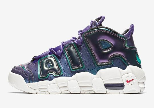 The Nike Air More Uptempo Gets An Iridescent Purple Look e2c46c8cdf85