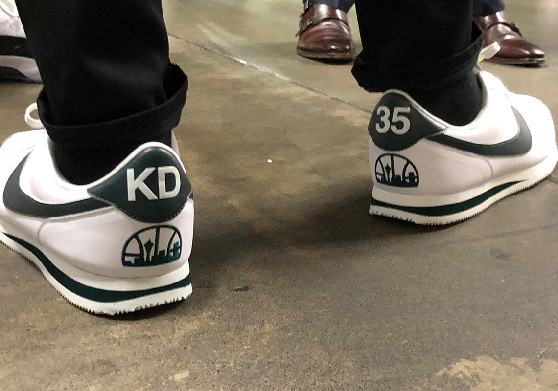 5f6aaec3b243 Kevin Durant Wears Nike Cortez