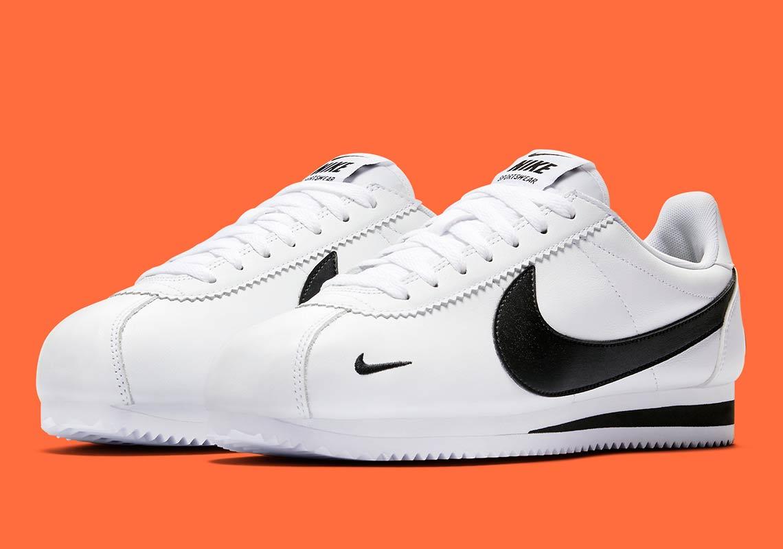 Nike Cortez Multi Swoosh White Black