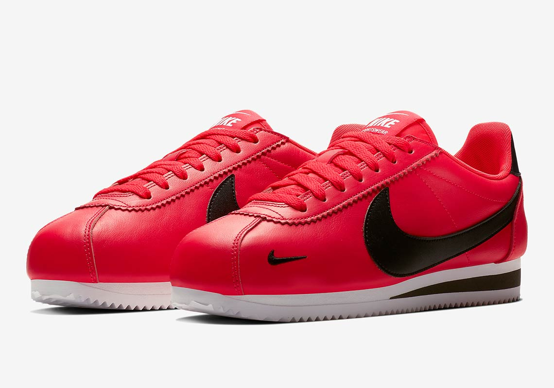 cheap for discount 9ccf5 d9fdb Nike Cortez Swooshes Red 807480-601 | SneakerNews.com
