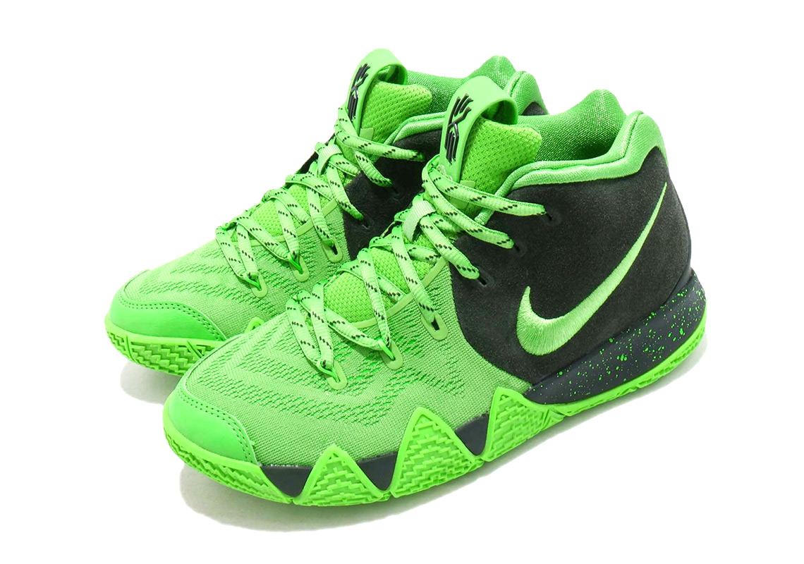 Nike Kyrie 4 Spinach Green Kids Aa2897 333 Release Info