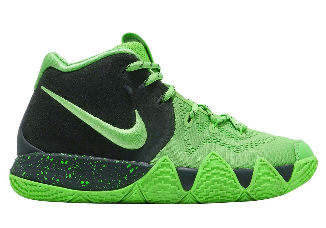 new style 95f63 5586e Nike Kyrie 4 Spinach Green Kids AA2897-333 Release Info ...