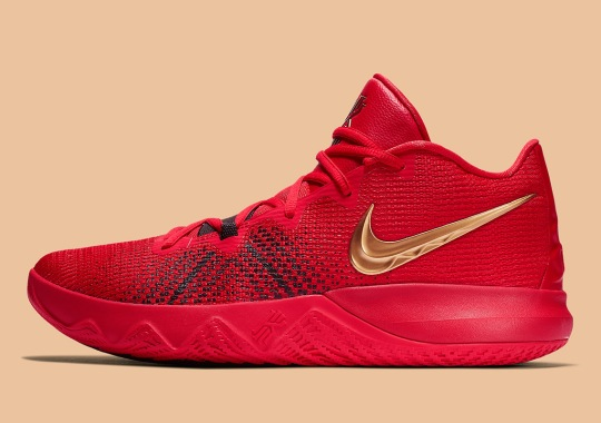 768a54dbbb3 The Nike Kyrie Flytrap Appears In A 49ers Friendly Colorway