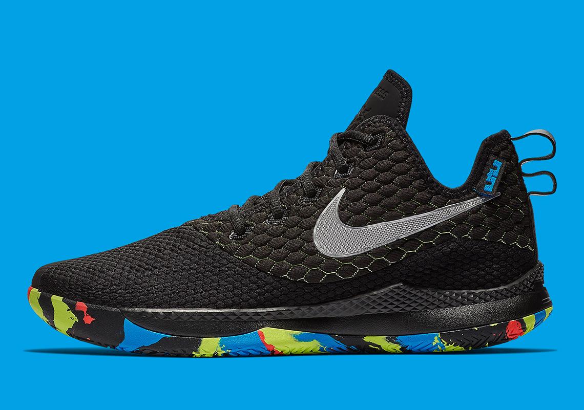 huge discount 26b60 e57e8 Nike LeBron Witness III Color BlackChrome-Cool Grey-Volt