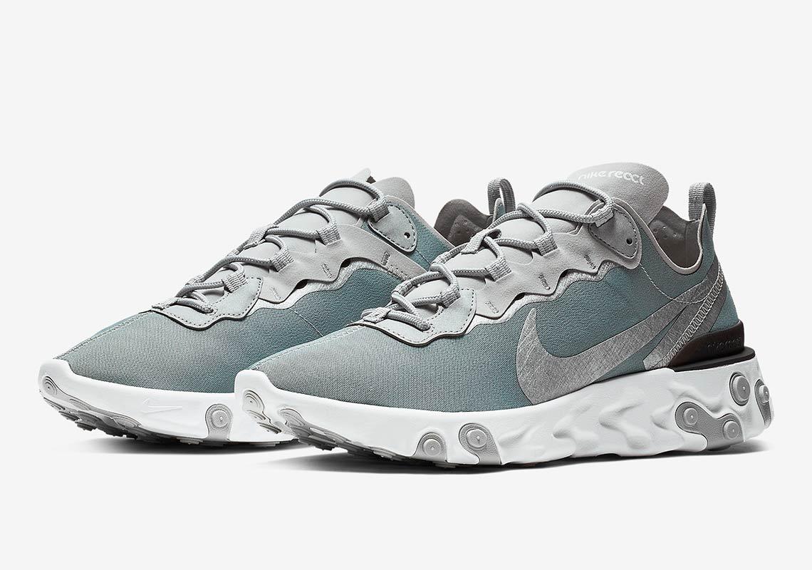 c1b1e02e5e13 Nike React Element 55 Silver BQ6166-007 Release Info