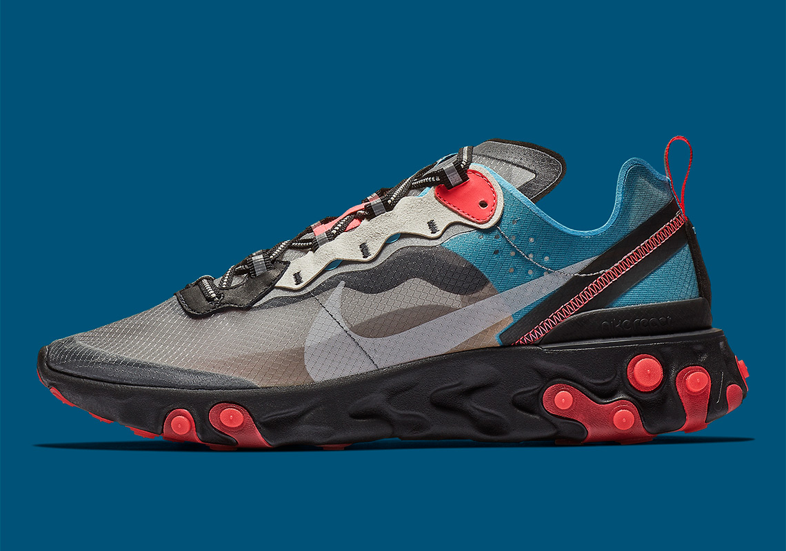 cb0a480e66f Where To Buy Nike React Element 87 Blue Chill Solar Red AQ1090-006 ...