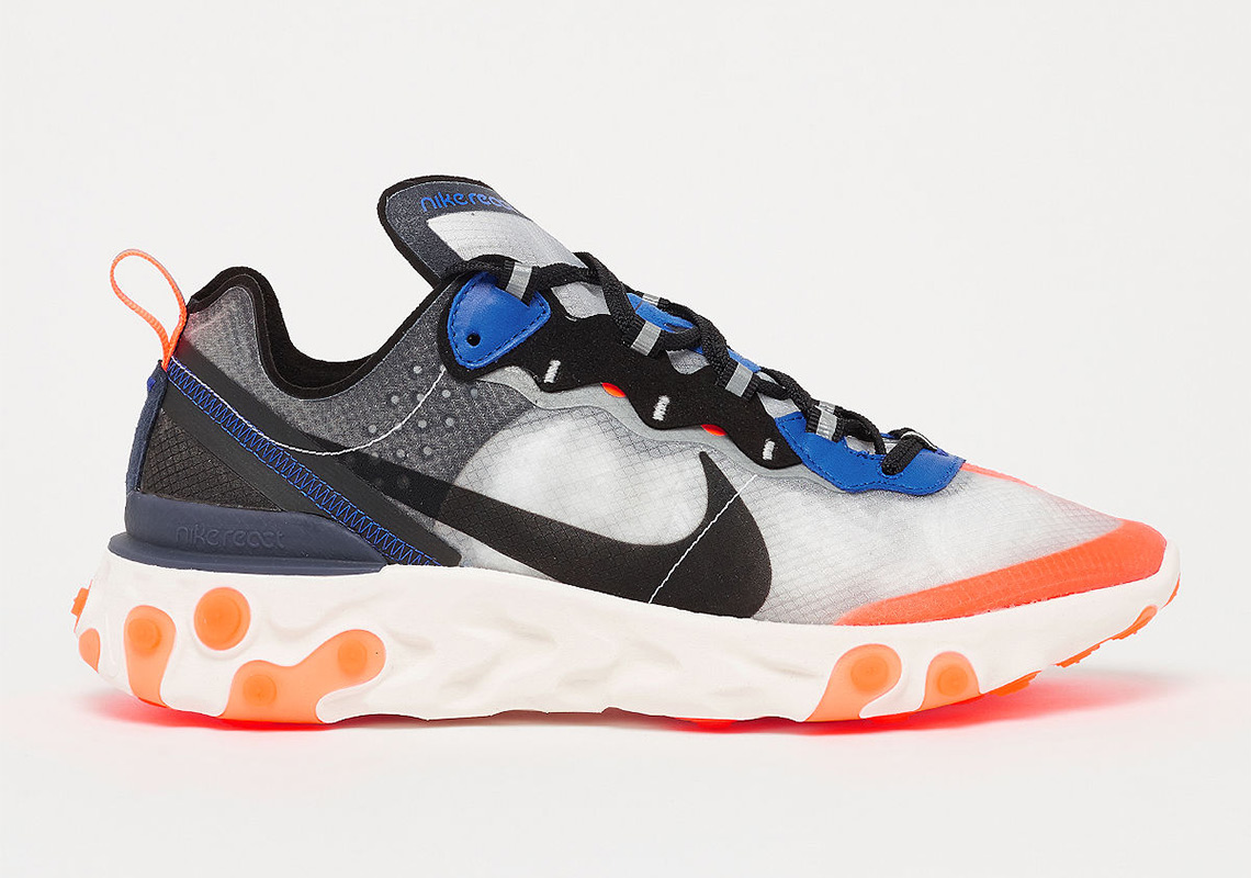Where To Buy: Nike React Element 87 Thunder Blue/Orange