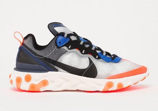 Where To Buy: Nike React Element 87 Thunder Blue/Orange