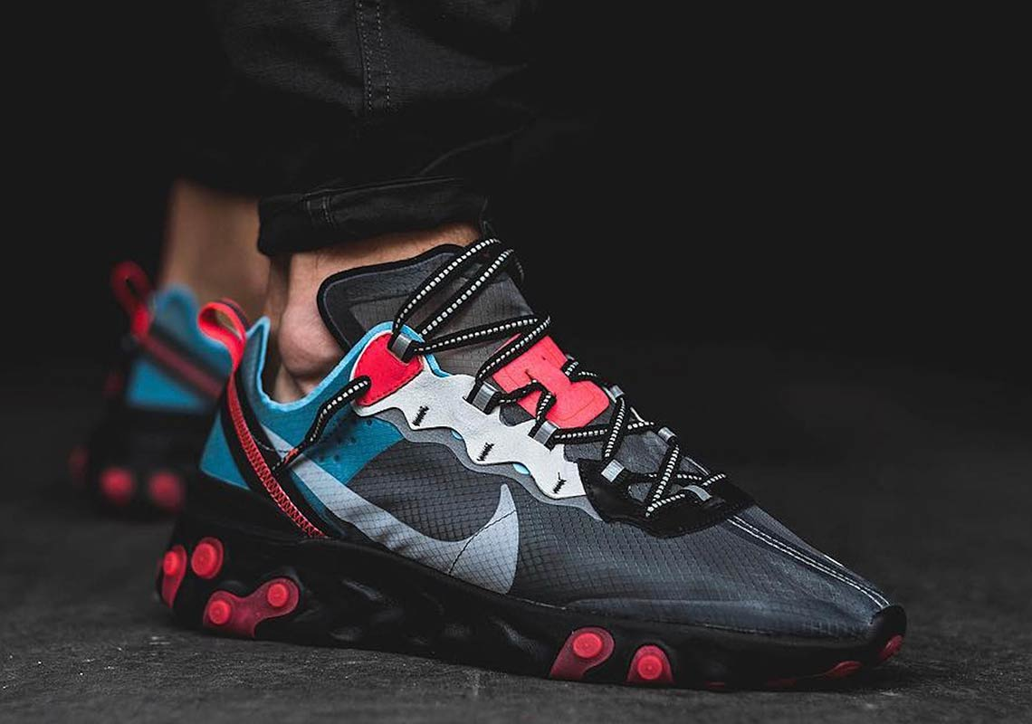 Store/Raffle List for Nike React Element 87 Blue Chill/Solar Red