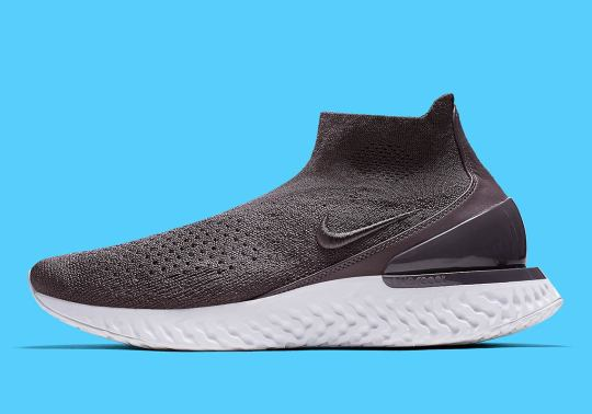 """Nike's Rise React Flyknit Gets A """"Thunder Grey"""" Makeover"""