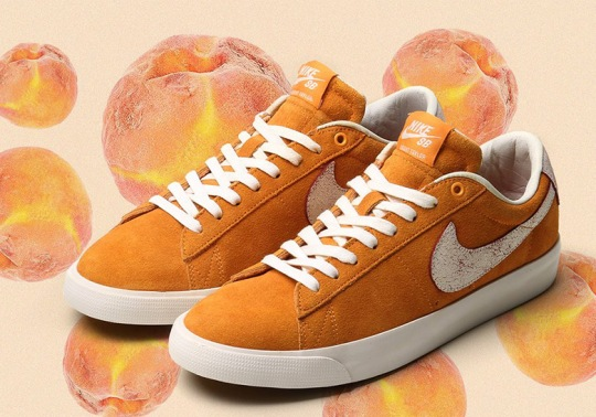 "Nike SB's ""Bruised Peach"" Blazers Reveal Purple Swooshes After Use"
