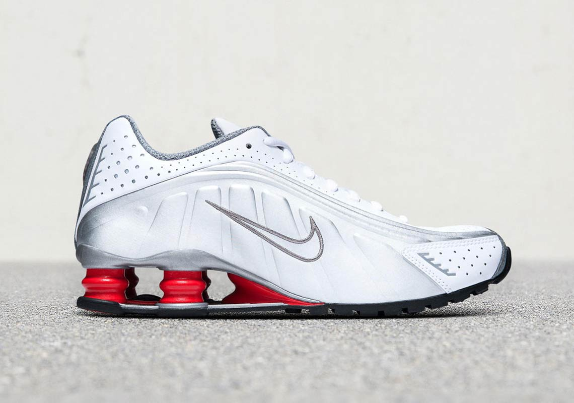 dbc463b5b2e3f5 Where To Buy Nike Shox R4 Red + White BV1111-100