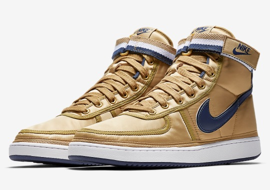 Nike Vandal High Supreme Appears In Gold And Navy