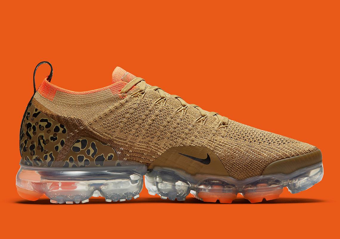vapormax with cheetah print