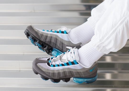"""3a6ad59ba7 The Nike Vapormax 95 """"Neo Turquoise"""" Is Available Now"""