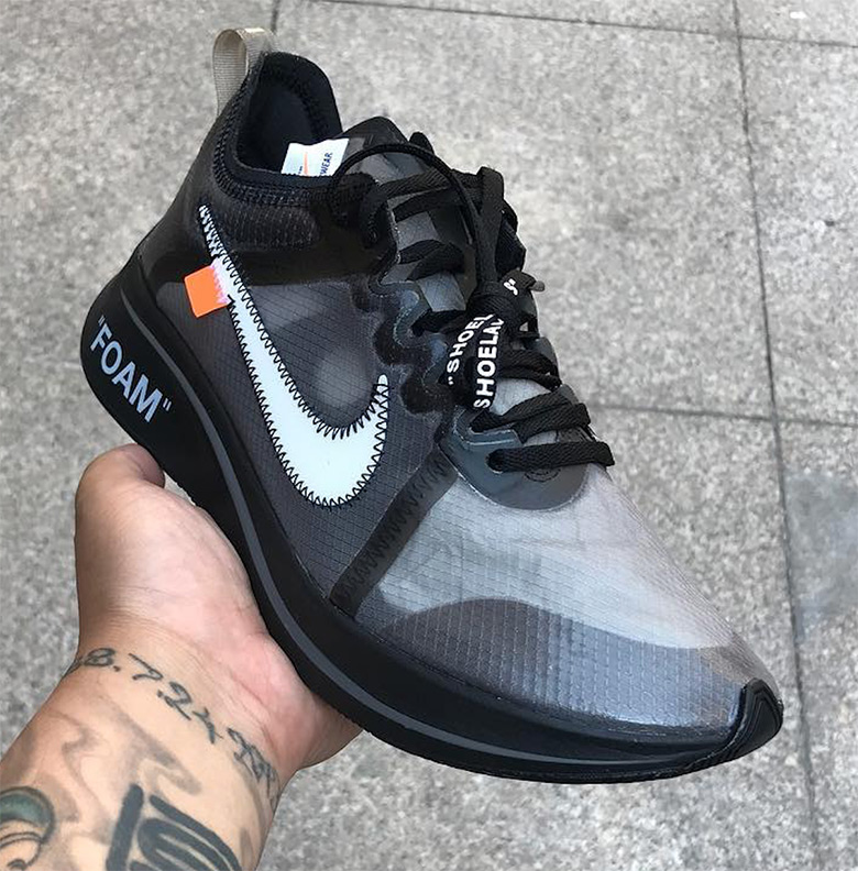 Off White Nike Zoom Fly Sp Pink Black Aj4588 001 Aj4588