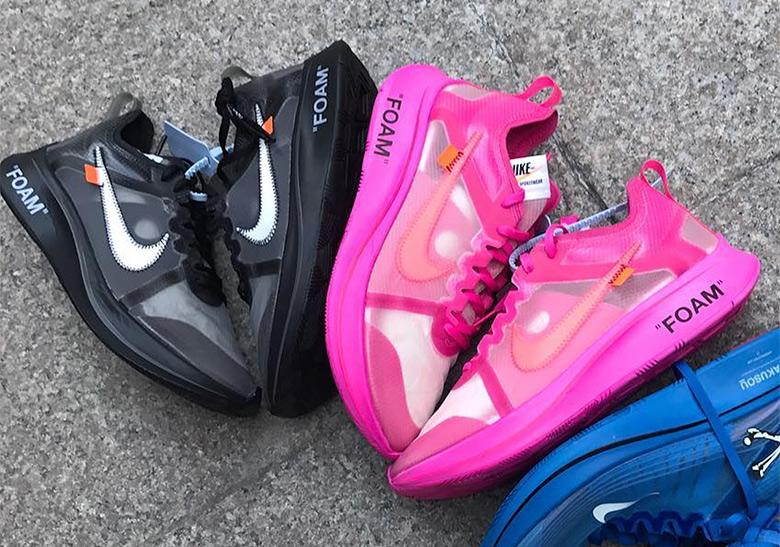 Off,White Nike Zoom Fly SP Pink Black AJ4588,001 AJ4588,600