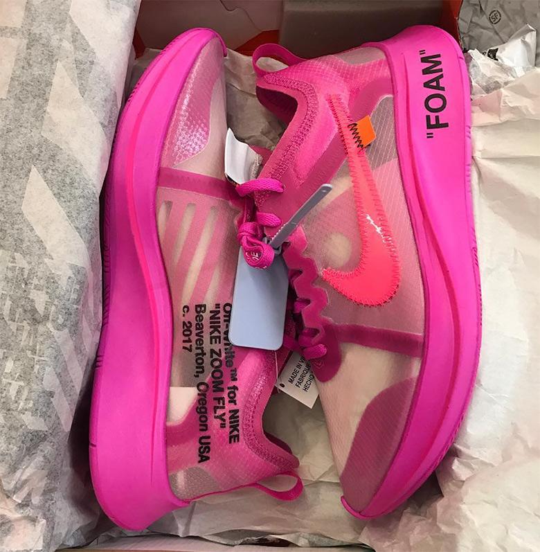 Off White Nike Zoom Fly Sp Pink Black Aj4588 001 Aj4588