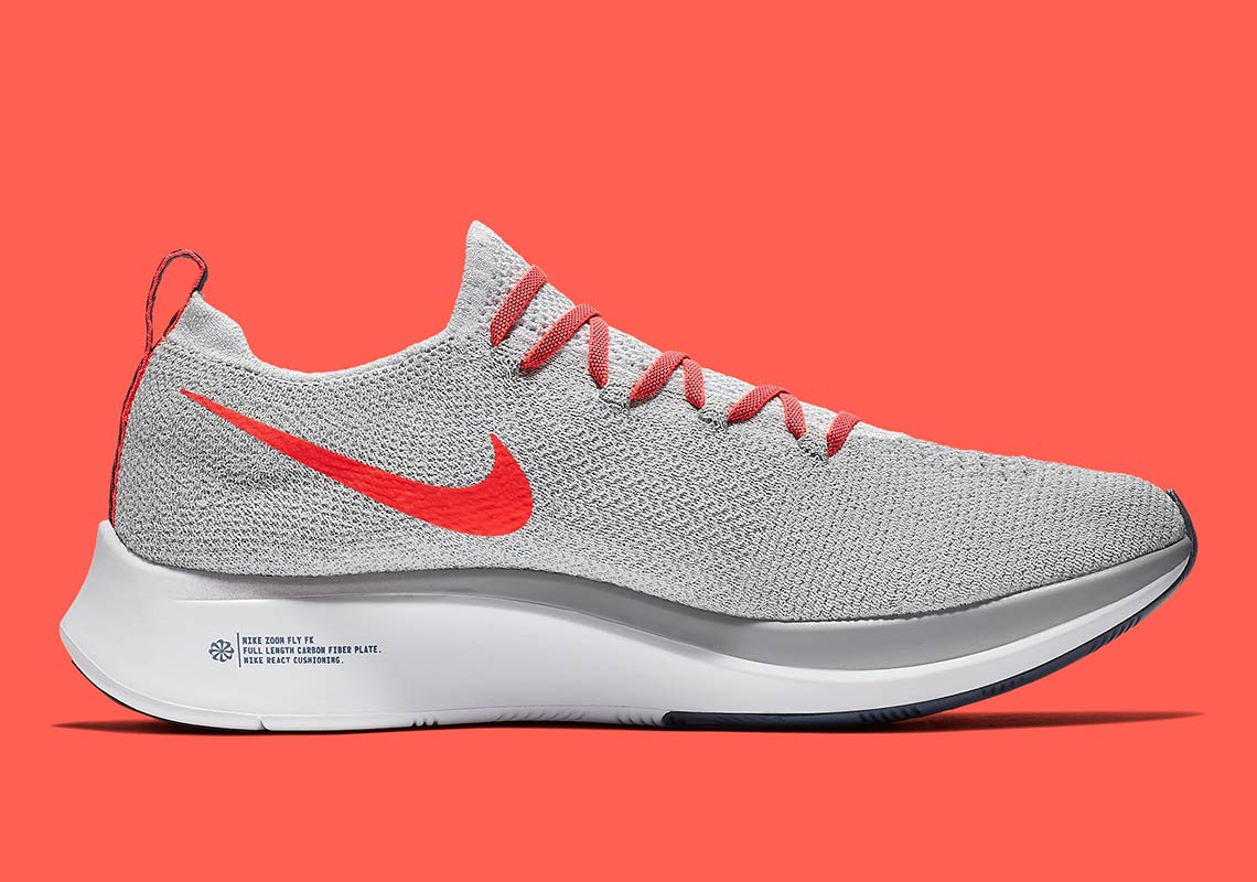 2abe401ef Nike Zoom Fly Flyknit $160. Color: Pure Platinum/Bright Crimson Style Code:  AR4561-044. Where to Buy. Dick's Sporting GoodsAvailable Now. Advertisement