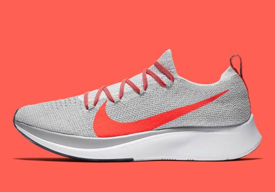 The Nike Zoom Fly Flyknit Appears In Pure Platinum And Bright Crimson