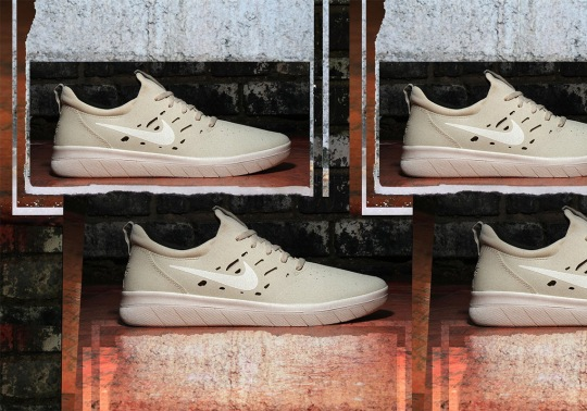 "Nyjah Huston's Nike SB Shoe Available In ""Beach"" Tones"