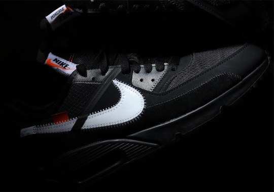 The Off-White x Nike Air Max 90 In Black Is Releasing This Holiday Season