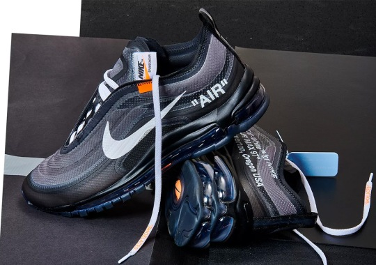 """Off-White x Nike Air Max 97 """"Black"""" Releasing On Nike SNKRS Draw"""