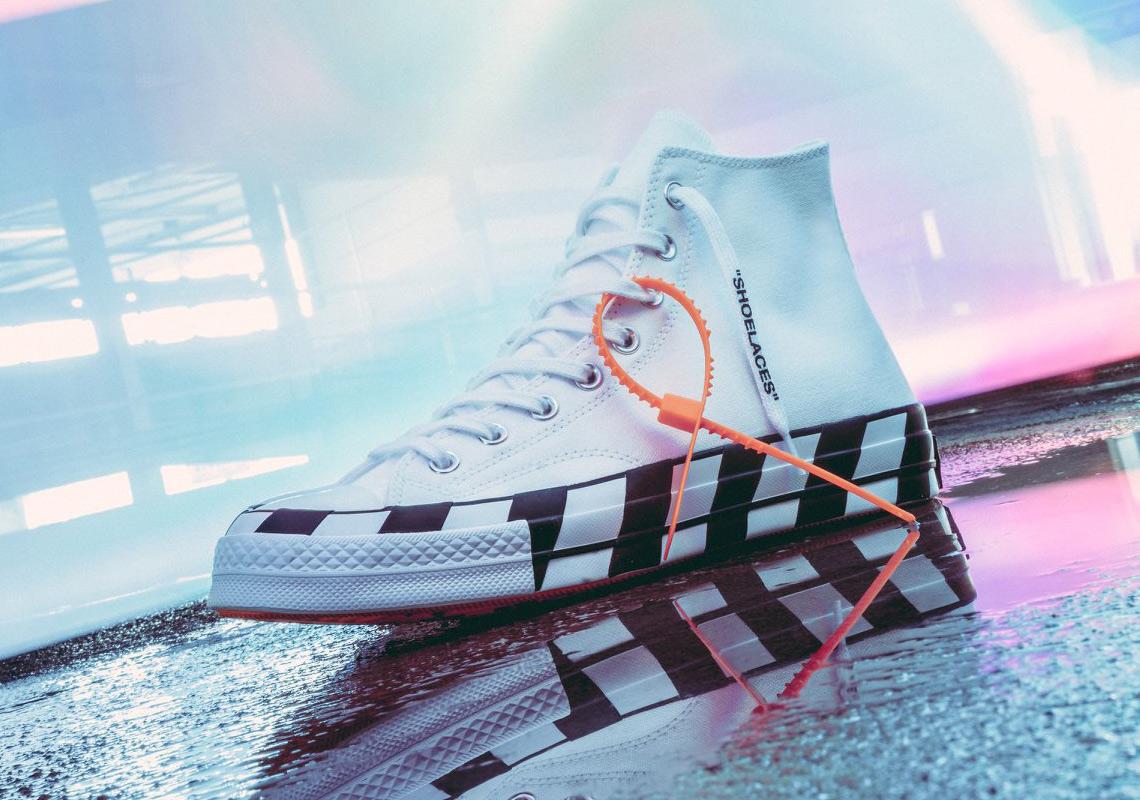 3f158f98baf Off-White Converse Chuck 70 White Black Orange Release Info ...