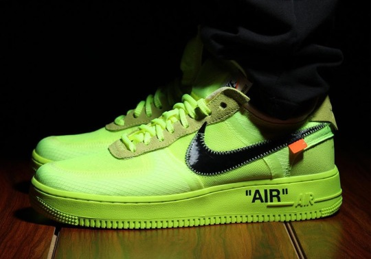 "Detailed Look At The Off-White x Nike Air Force 1 ""Volt"""