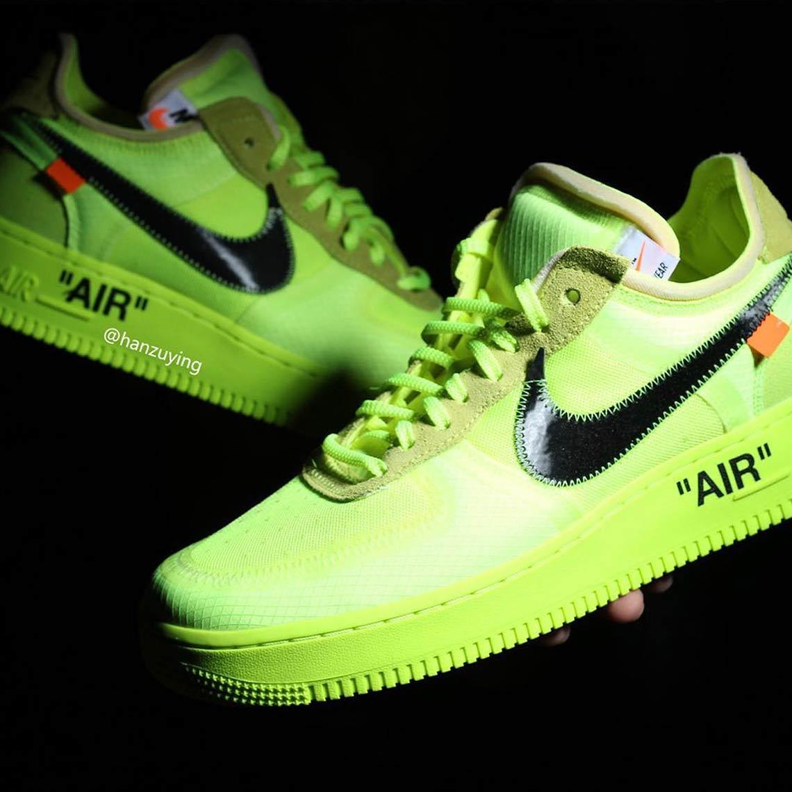 Off White Nike Air Force 1 Volt Photos Sneakernews Com