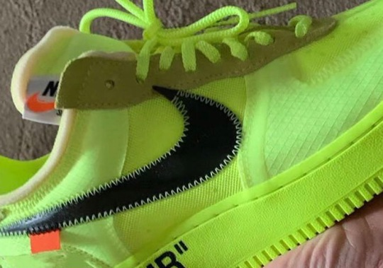"First Look At The Off-White x Nike Air Force 1 ""Volt"""