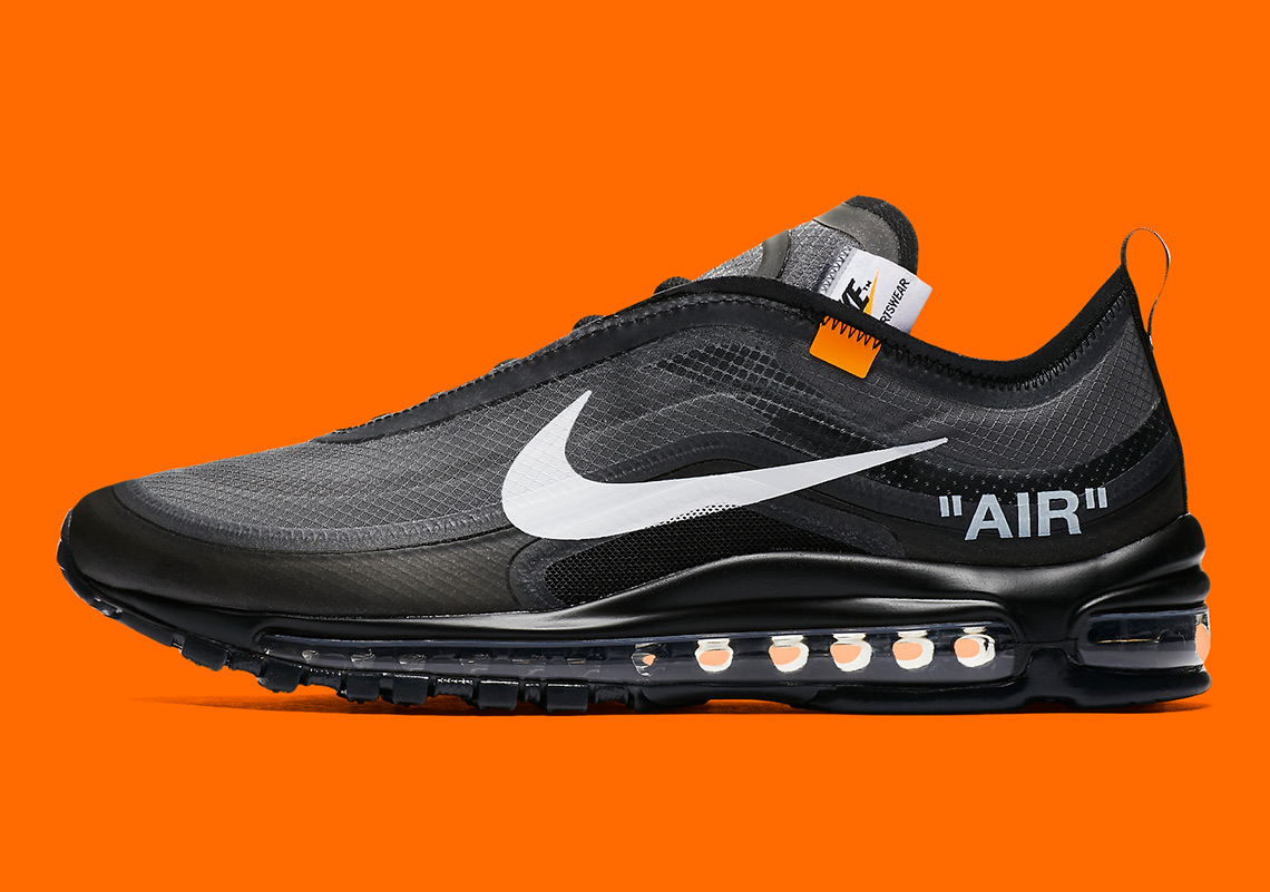 Off White Nike Air Max 97 AJ4585 001 Black White Cone