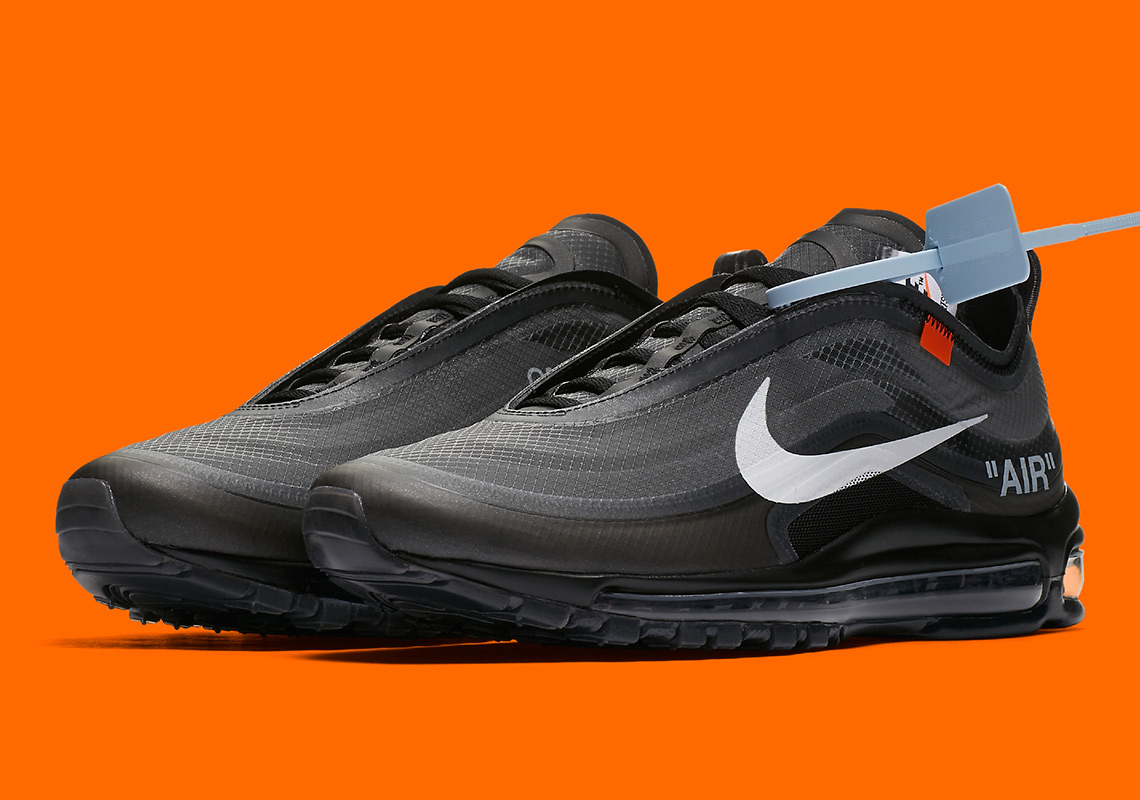 3af2b22ea947a Off-White Nike Air Max 97 AJ4585-001 Black White Cone | SneakerNews.com