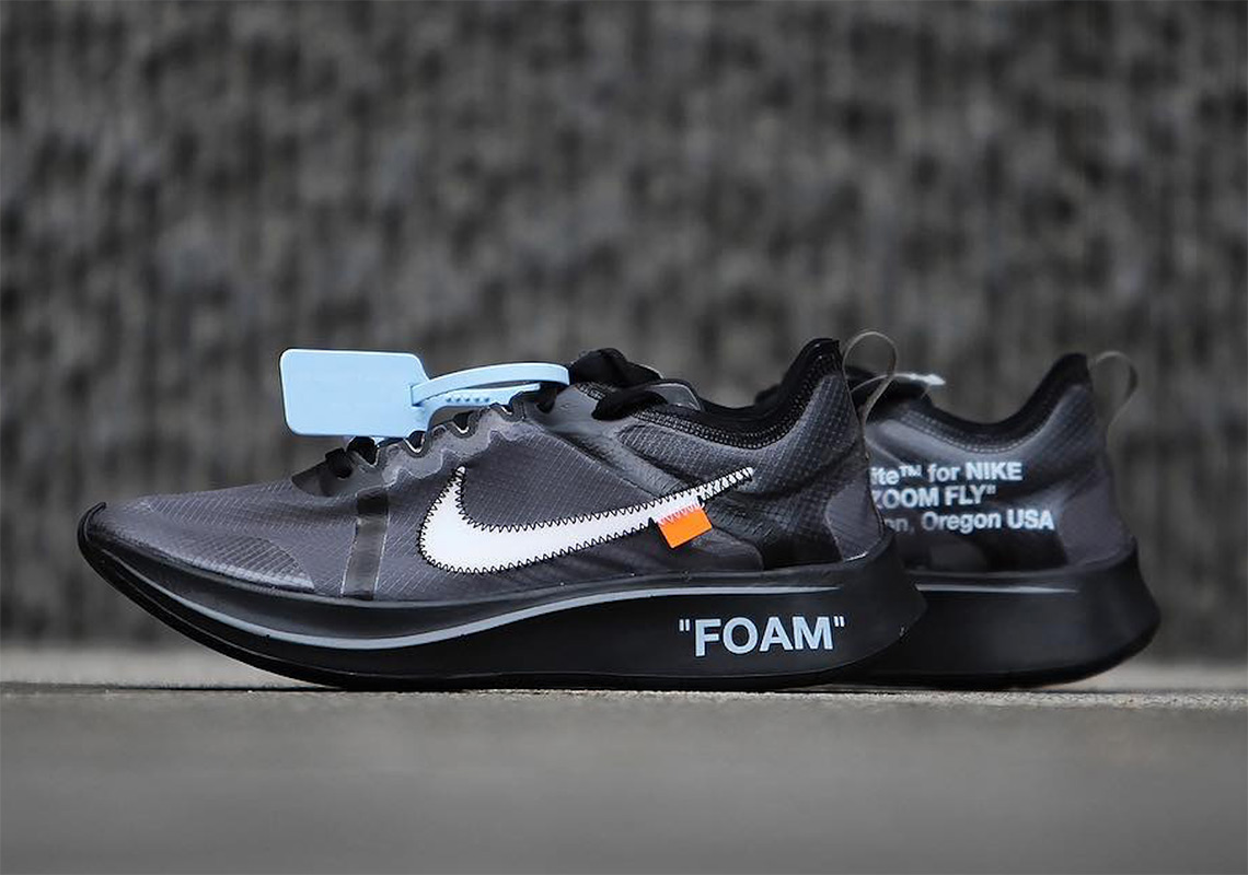 Consulado Falange Pocos  Off-White Nike Zoom Fly SP Black + Pink Release Info | SneakerNews.com