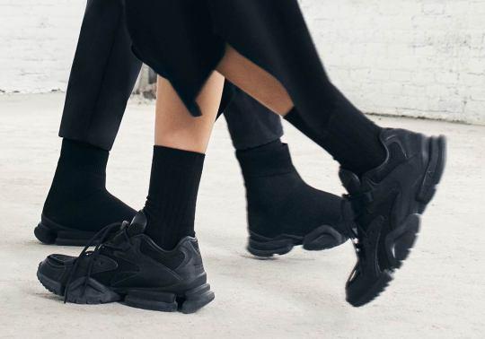 Reebok's Sock Run.r & Run.r 96 Drop In All Black