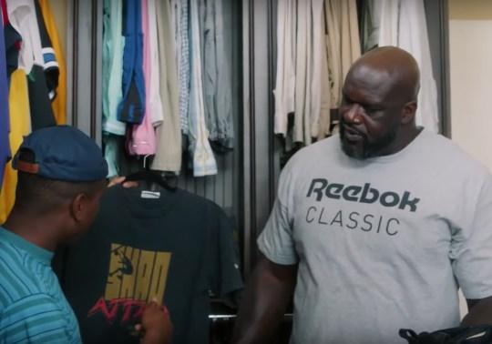 Shaq Reveals His Epic Reebok Memorabilia Closet