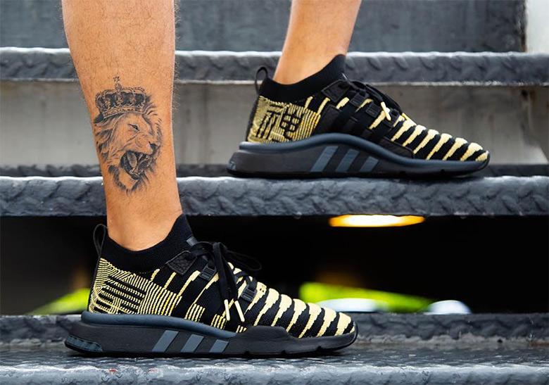 adidas Dragon Ball Z Shenron Black Gold Shoes |