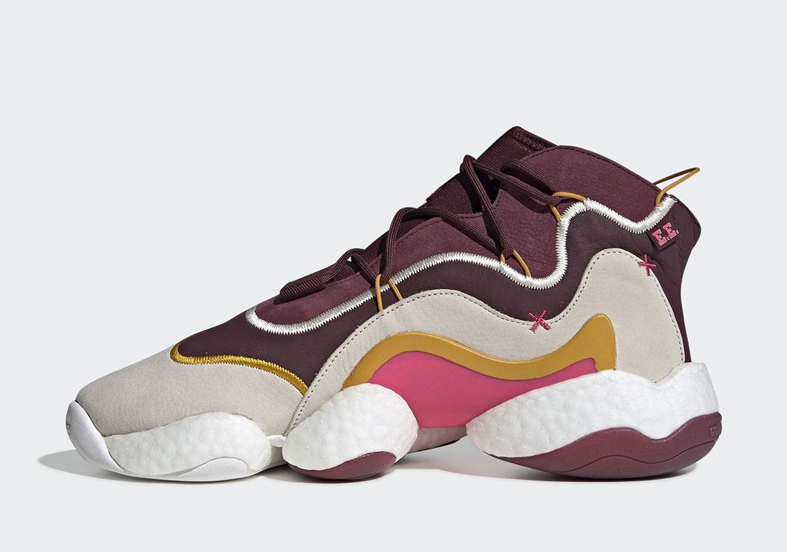 hot sale online 28f89 c5073 Eric Emanuel x adidas Crazy BYW Release Date December 7th, 2018 200.  Color MaroonCream WhiteReal Pink Style Code BD7242