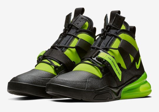 The Nike Air Force 270 Utility In Black/Volt Releases This Weekend