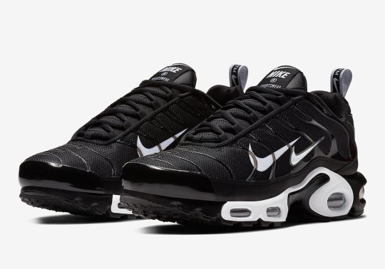"Nike Adds An Extra Swoosh To The Air Max Plus ""Overbranding"""